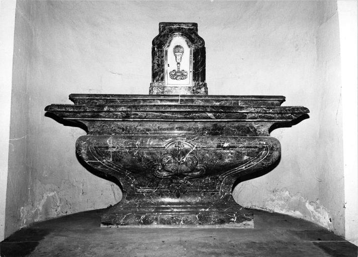 autel et tabernacle, marbre, 1751