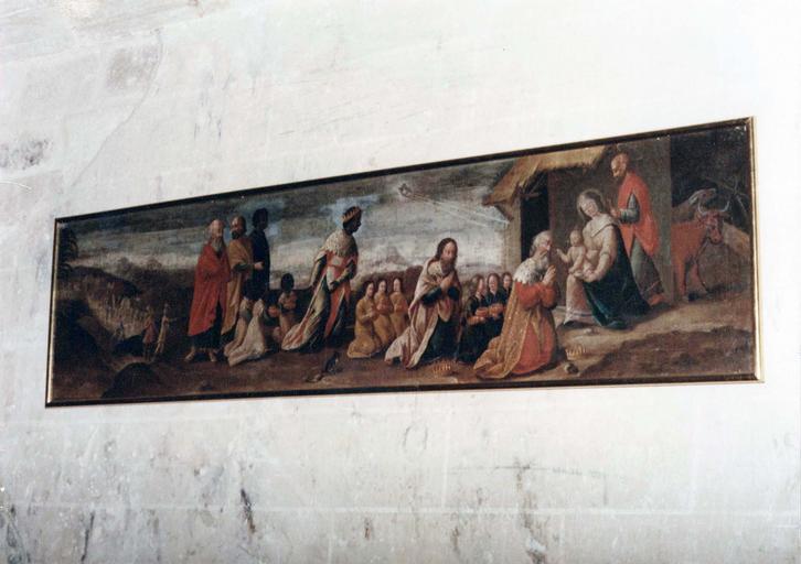 Tableau : L'Adoration des mages, huile sur toile, 16e siècle