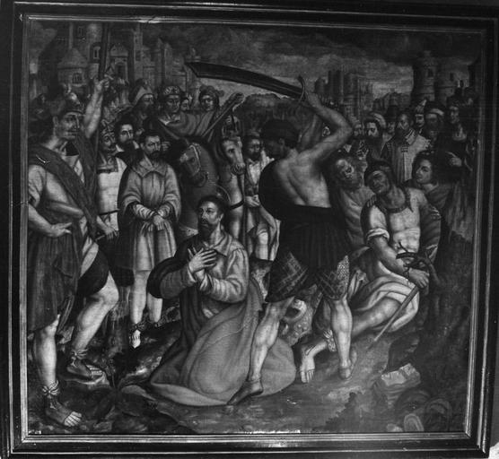 Tableau : La Décollation d'un martyr, huile sur toile, fin 16e siècle, déposé à la Cathédrale Notre-Dame