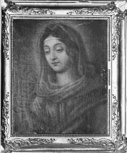 Tableau : La Vierge, huile sur toile, 17e siècle