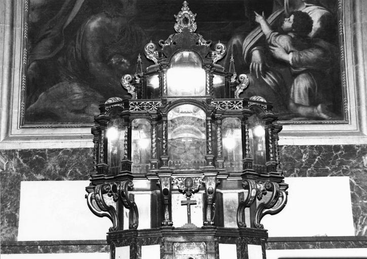 Reliquaire dit de sainte Chantal, ébène et glace, 17e siècle, vu de face