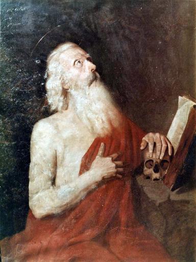 Tableau : Les Pressentiments de la Vierge, huile sur toile, 17e siècle