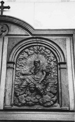 Bas-relief : saint Marc, bois sculpté, 17e siècle