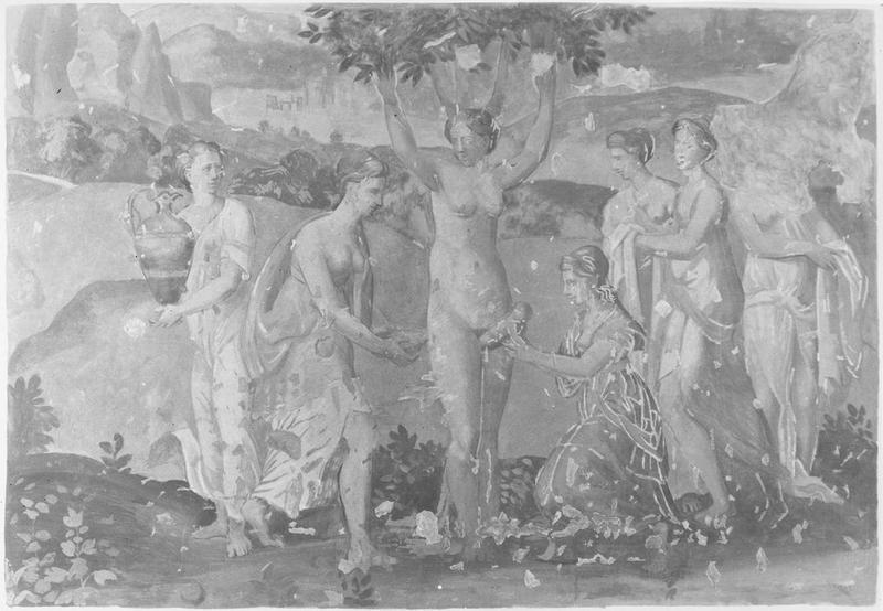 Peinture monumentale: naissance d'Adonis, vue générale