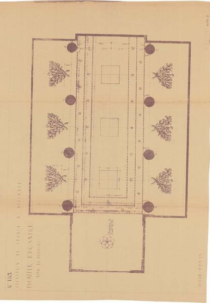 Plan du plafond de l'escalier d'honneur