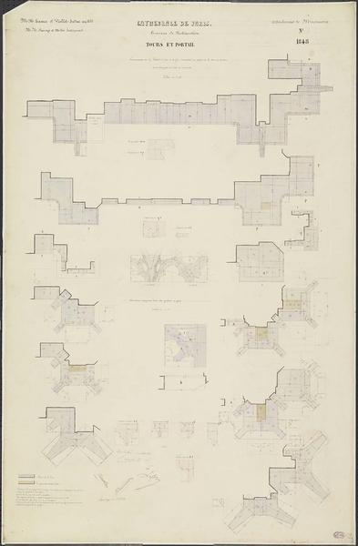 Attachements de maçonnerie : Restauration de la galerie à jour de la tour sud