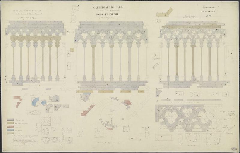 Attachements de maçonnerie : Restauration des tours nord et sud (Divers)