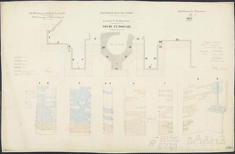Attachements de maçonnerie : Restauration du soubassement de la tour sud