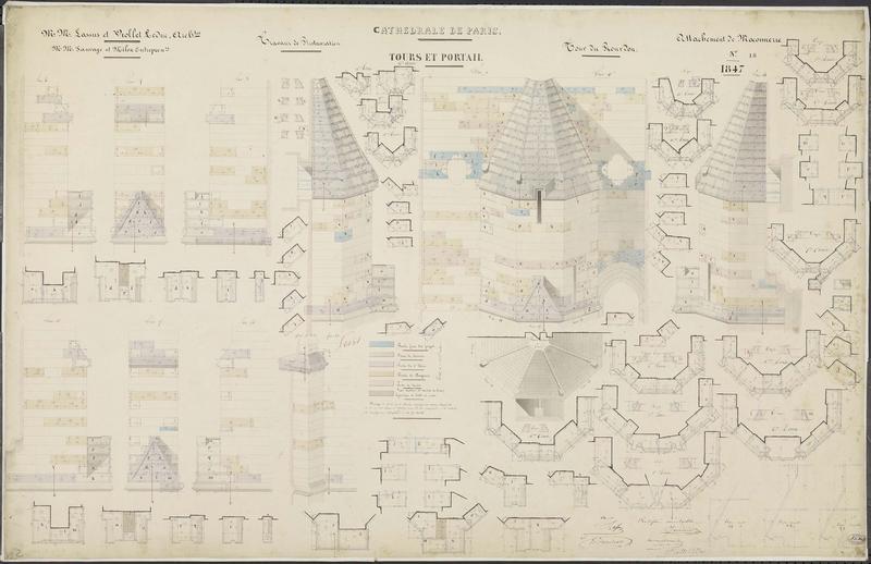 Attachements de maçonnerie : Restauration des contreforts de la tour sud