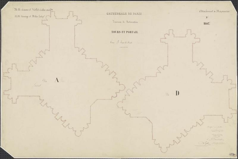 Attachements de maçonnerie : Restauration des piles de la tour nord