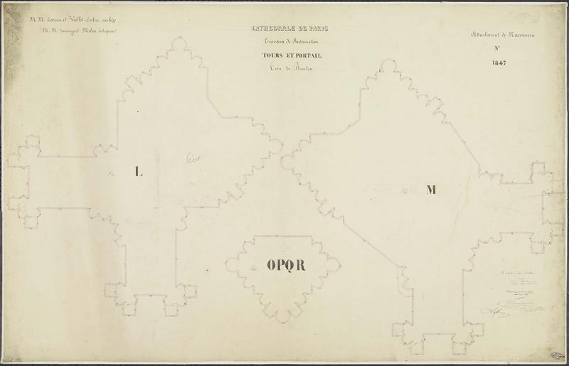 Attachements de maçonnerie : Restauration des tours nord et sud