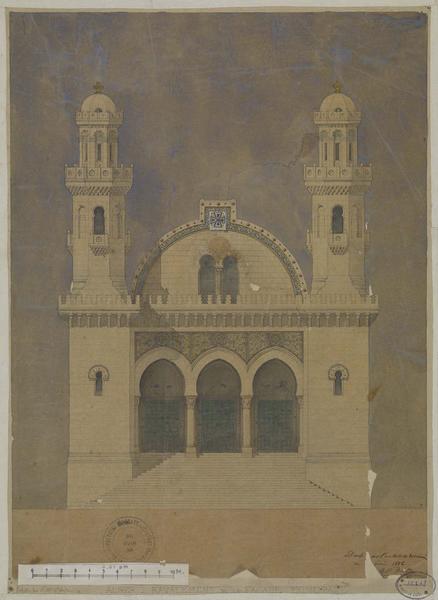 Elévation de la façade principale pour le ravalement