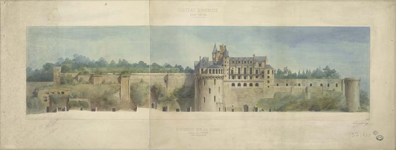 État actuel : élévation de la façade sur la Loire