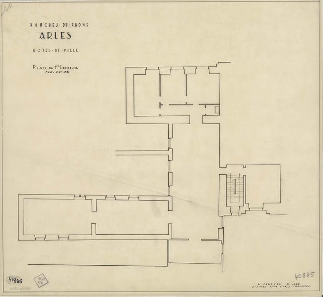 Plan du premier entresol