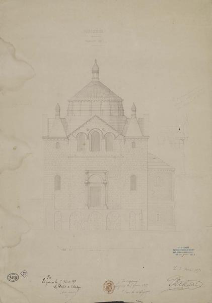 Coupe du transept sud