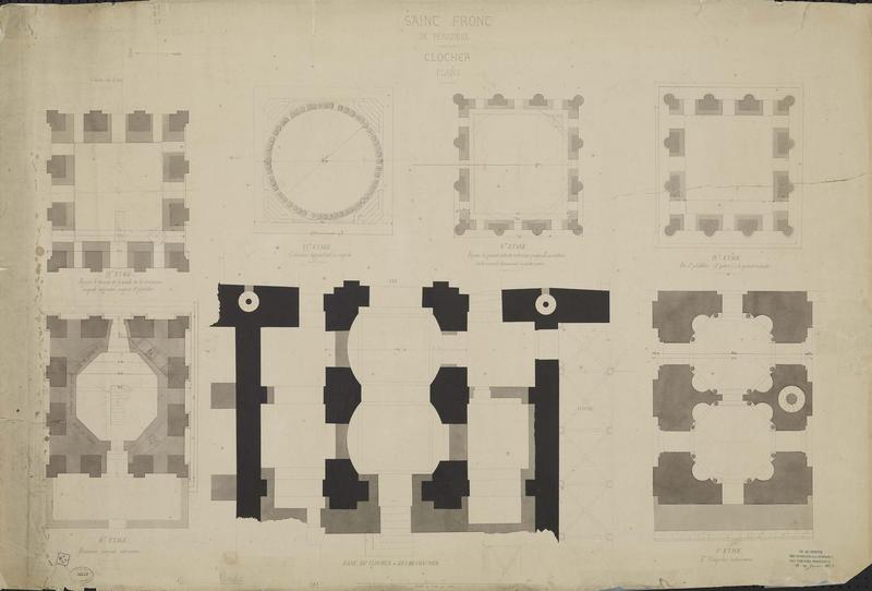 Plans du clocher
