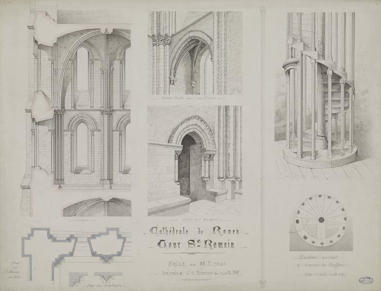 Tour Saint-Romain : deuxième étage, détails