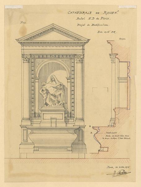 Notre-Dame de Pitié : modification de l'autel