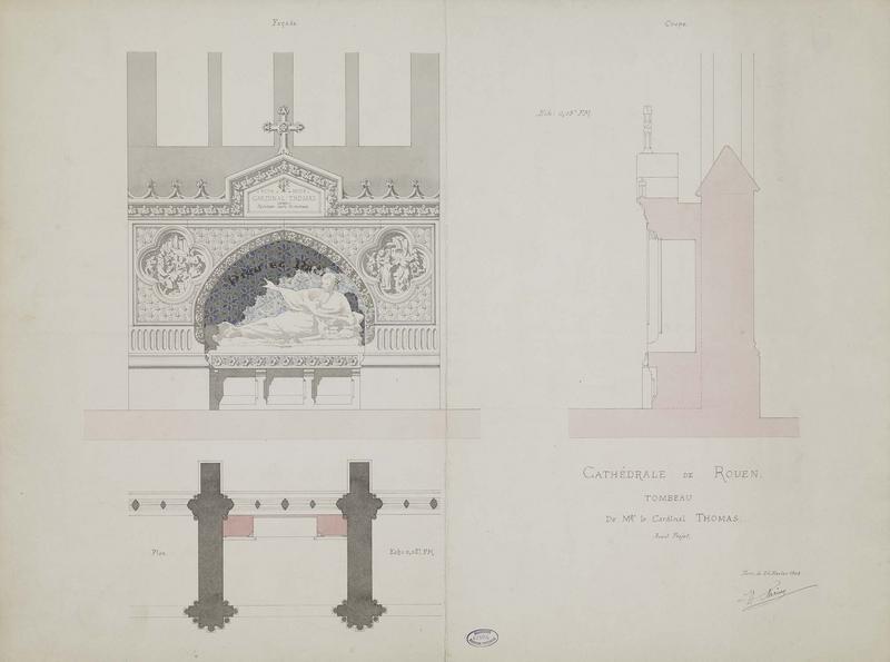 Chapelle sainte-Marguerite : avant-projet du tombeau du cardinal Thomas