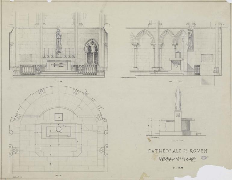 Chapelle Jeanne d'Arc : érection d'un nouvel autel