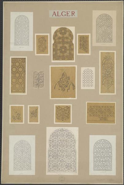 Détails de motifs décoratifs