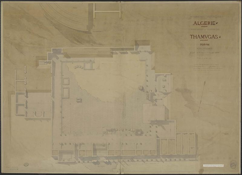 Plan d'ensemble, état actuel d'après Milvoy, 1883