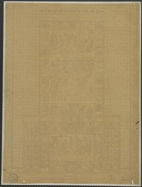 Détail d'une mosaïque romaine