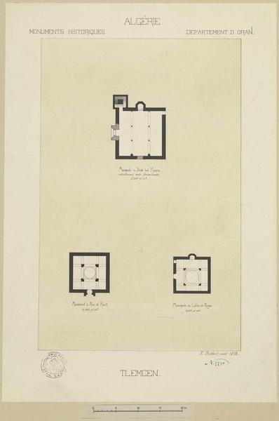 Plans des différentes mosquées