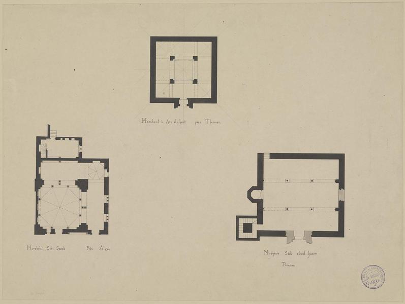 Plans des différentes mosquées et marabouts