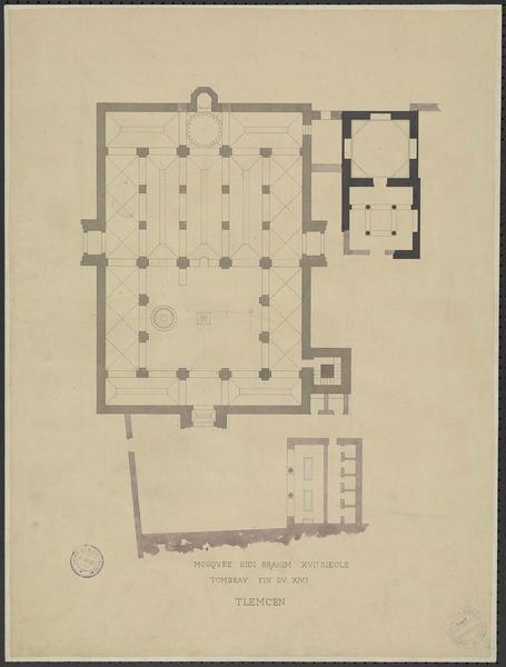 Plan de la mosquée et du tombeau