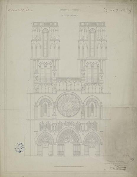 Élévation de la façade principale
