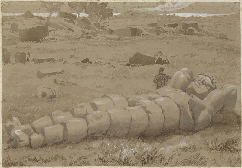 Statue brisée de l'un des géants