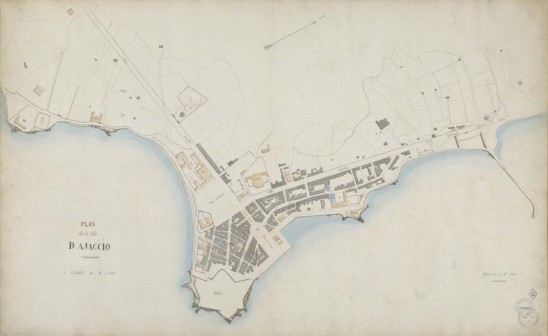 Avant-projet de restauration et d'agrandissement, plan de la ville