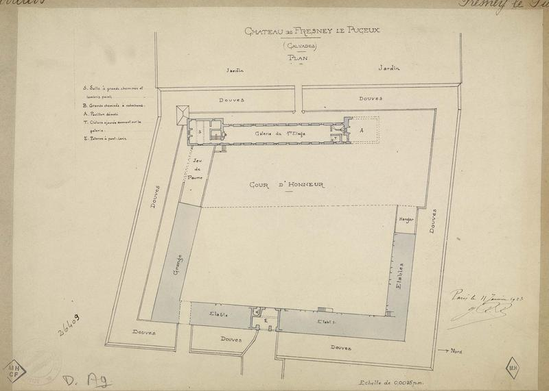 Plan du premier étage