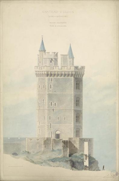 Élévation de la façade, restauration de la tour