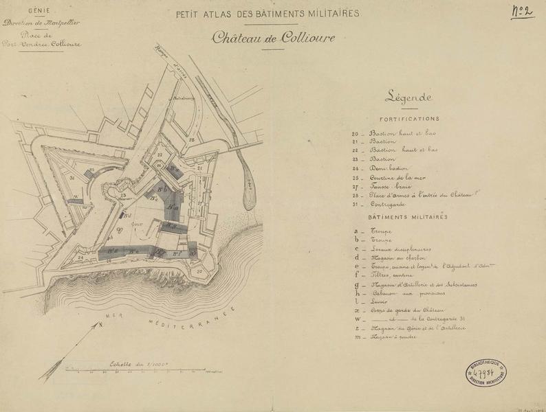 Plan d'ensemble des fortifications et des bâtiments militaires