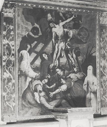 Retable, tableau : Déposition de la croix