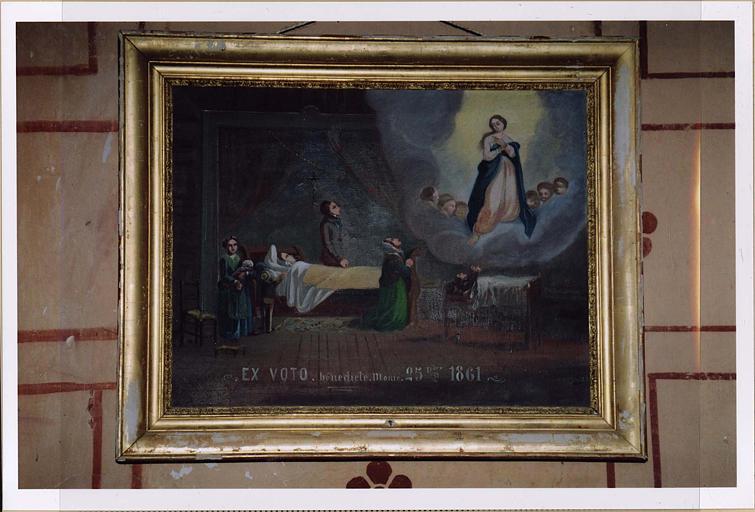 Ex-voto : Bénédicte Monie 25 Dbre 1861
