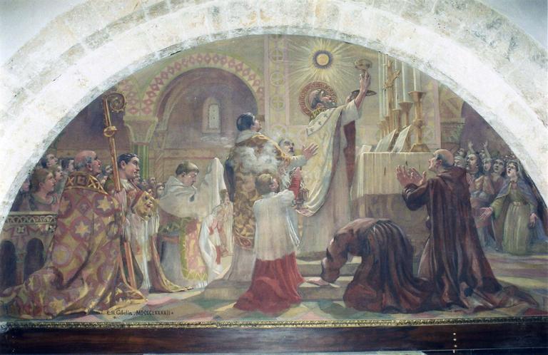Tableau : Messe de saint Martin, huile sur toile