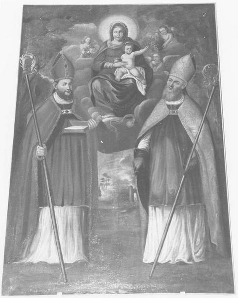 Tableau : Saint Martin et saint Pons aux pieds de la Vierge à l'Enfant