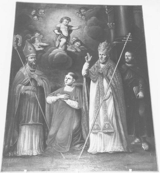 Tableau : Saint Prosper, saint Fortunat, saint Innocent et saint Secure (ou Ségur ?)