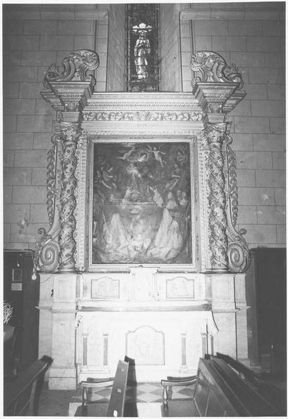 Retable, tableau : la Donation du rosaire et Louis XIII