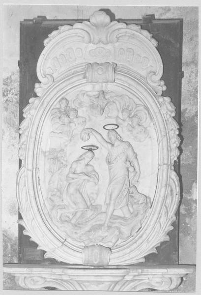 sculpture (médaillon) : Baptême du Christ