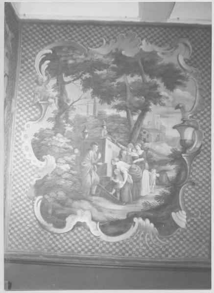 tableau : Séance de projection de lanternes magiques