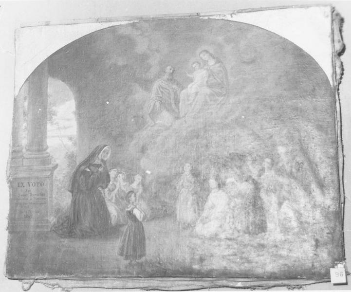 ex-voto:de soeur Dorothée 1862