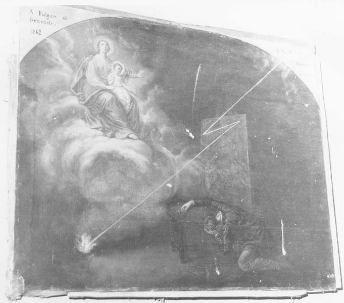 Ex-voto: A Fulgure et tempestate 1862
