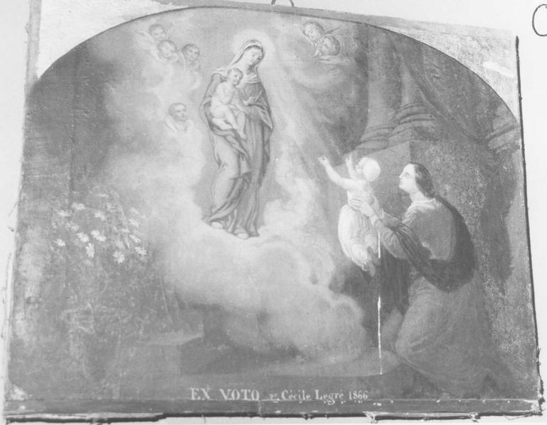 ex-voto: Cécile Legré 1866
