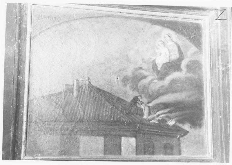 ex-voto: incendie, Vierge à l'Enfant
