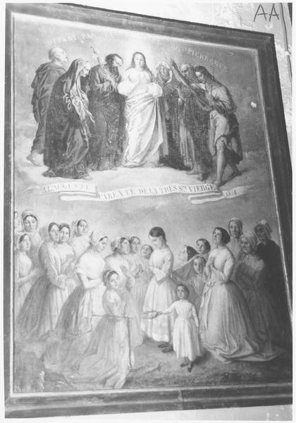 ex-voto: A l'auguste parenté de la très sainte Vierge 1854