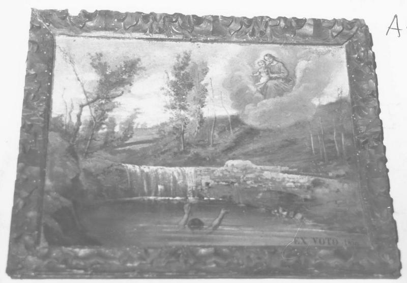 ex-voto: 1850: un noyer, la Vierge à l'Enfant